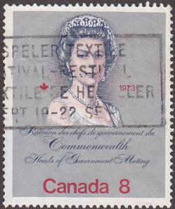 Canada 620 Hinged Used 1973 Royal Visit
