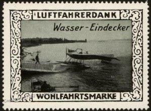Germany Waterplane WWI Air Force Memorial Luftfahrerdank Flight MNH  Cin G102813