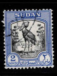 SUDAN Scott 99 Used Shoebill bird stamp 1951