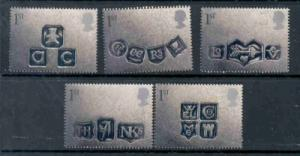 Great Britain Sc 1948-52 2001 Greetings stamps mint NH