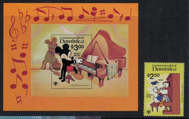 Dominica #644-53* NH CV $8.00 Disney complete set with Souvenir sheet