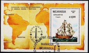 Nicaragua. 1981 Miniature Sheet.  Fine Used