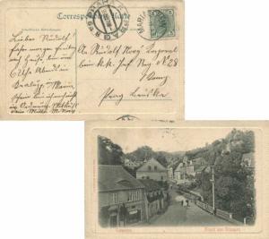 Austria 5h Franz Josef 1907 Mariaschein PPC (Totenstein, Gruss aus Graupen) t...