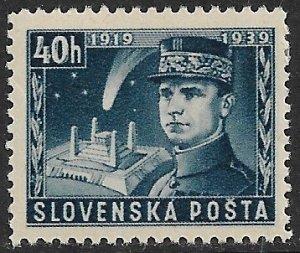 SLOVAKIA 1939 40h General Stefanik Memorial Issue Sc 34 MNH