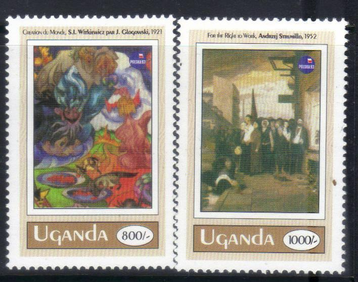 UGANDA 1993 ANNIVERSARIES AND EVENTS 2 MH VALUES