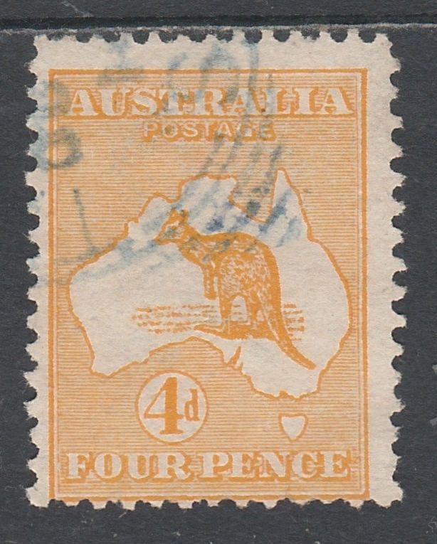 AUSTRALIA 1913 KANGAROO 4D USED 1ST WMK