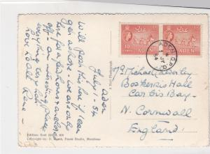 Aden 1954 East African Rhino Pic Aden Cancel Stamps Card ref R 17459