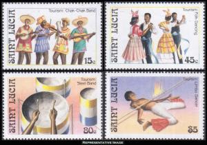Saint Lucia Scott 862-865 Mint never hinged.