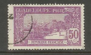 GUADELOUPE, 76, U, REPUBLIC PURPLE