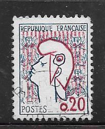 France #985  20c blue & carmine   (U)  CV$.60