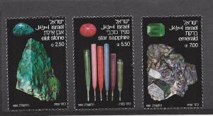 Israel, 795-97, Mineral Stones Singles,**MNH**