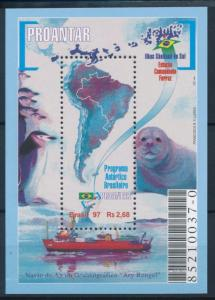 [37799] Brazil Brasilien 1997 Marine life Seal Polar MNH Sheet