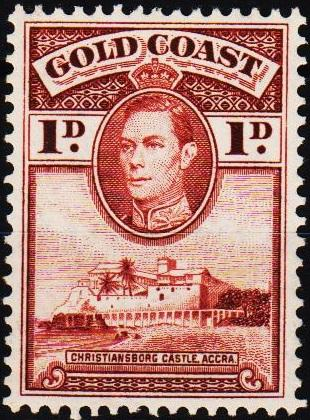 Gold Coast. 1938 1d S.G.121a Unmounted Mint