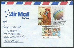 AUSTRALIA 1990 cover to Germany - nice franking - Sydney Monorail pmk......12844
