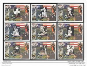 Niger 1999 Marilyn Monroe/J.F.Kennedy/Apollo XI Space 9 S/S Perforated MNH
