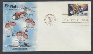 US Sc 1529 FDC. 1974 10c Skylab, Houston Philatelic Society FIRST CACHET
