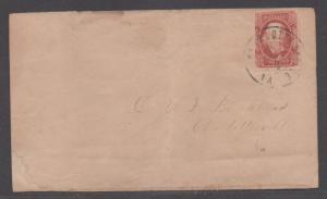 **CSA Cover, SC# 8, Charlottesville, VA, 12/23/1863, 2¢ Drop Letter Rate