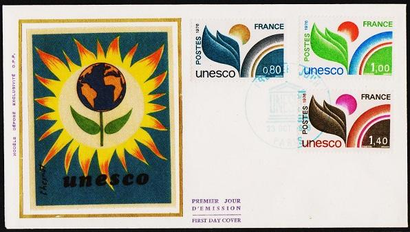 France.1976 Unesco.First Day Cover.Fine Used