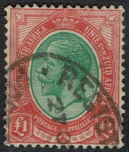 SOUTH AFRICA 1913 KGV 1 POUND USED