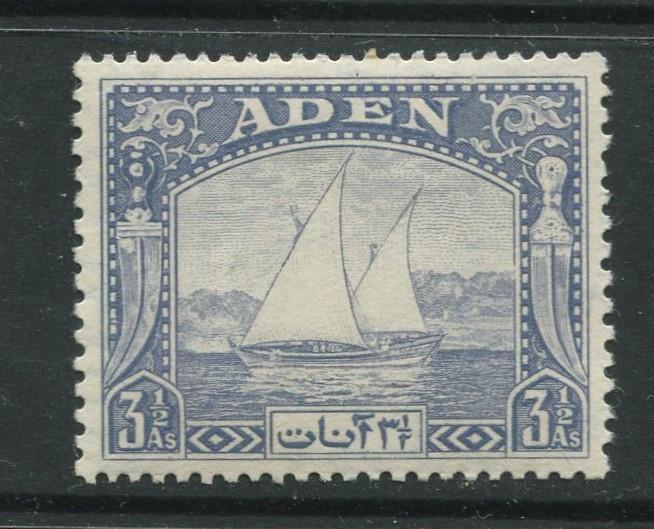 ADEN - Scott 7 - Dhow Issue - 1937- MVLH - Single 3.1/2a Stamp