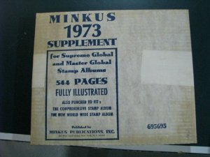 1973 Minkus Supreme Global Stamp Album Pages Supplement Unused complete A-Z