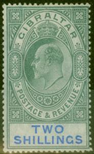 Gibraltar 1903 2s Green & Blue SG52 Fine & Fresh Mtd Mint (4)