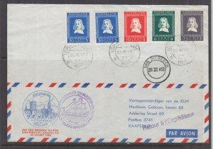 NETHERLANDS, 1952 Van Riebeeck First Flight cover to South Africa & return.