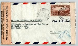 Haiti 1942 Dual Censor Cover to USA (III) - Z13657
