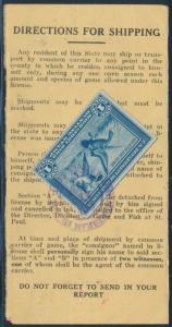 #RW1 $1 1934 TIED ON A MINNESOTA DUCK LICENSE BR9710