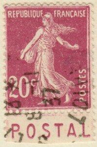 FRANCE - 1937 Bande pub  POSTAL  sur Yv.190 20c t.VI - Obl. (A2)
