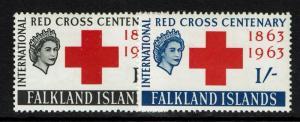 Falkland Islands SG# 212 & 213 Mint Light HInged / Sm. Hinge Rem - S824
