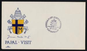 Canada Stampless cover - Pope John Paul Visit to Fort Simpson 1987 Cancel