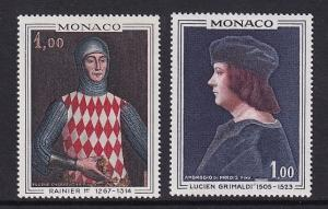 Monaco  #674-675   MNH  1967  paintings