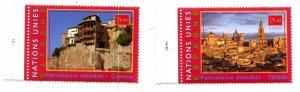 United Nations Geneva Scott #362-363 MNH World Heritage Spain.