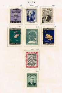 US STAMP CUBA STAMP COLLECTION LOT  #M3