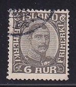 Iceland    #113  used   1920  Christian X   6a