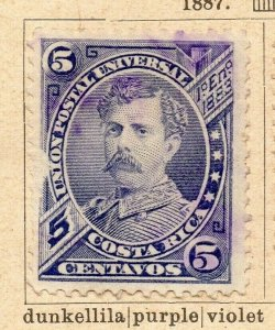 Costa Rica 1887 Early Issue Fine Used 5c. NW-09215