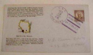 HONG KONG USS  BLACK HAWK 12 OCT 1935 MAP  CACHETED