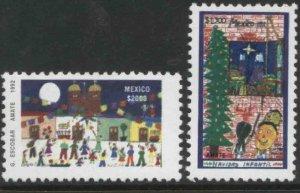 MEXICO 1780-1781, CHRISTMAS SEASON 1992. MINT, NH. VF.