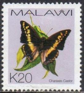 Malawi 2002 20k Charaxes castor (Butterfly) used