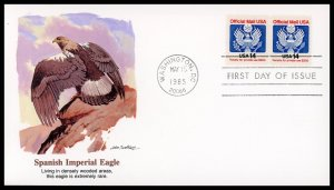 US FDC #O129A 14c Official Mail - Fleetwood Cachet