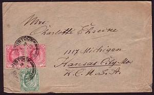 CAPE OF GOOD HOPE 1906 cover WOODSTOCK to USA..............................31529