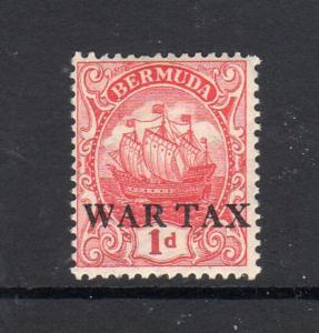 BERMUDA #MR2  1920  WAR TAX     MINT  F-VF LH  O.G
