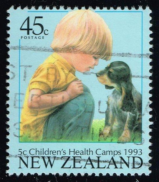 New Zealand #B143 Boy with Puppy; Used (1.00)