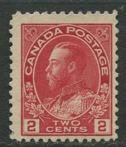 Canada - Scott 106 - KGV Definitive - 1911 - MNG  - Single 2c stamp