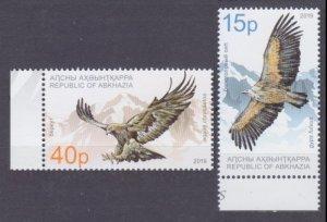 2019 Abkhazia Republic 1004-1005 Birds of prey