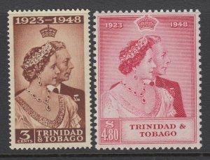 Trinidad & Tobago, Scott 64-65 (SG 259-260), MLH (65 is MNH)