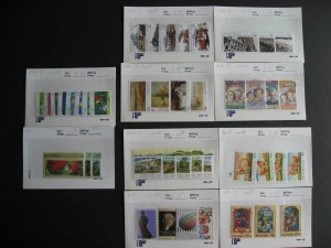 Australia 43 different 1989 MNH stamps face $36A SCV'20 $77 not a year set