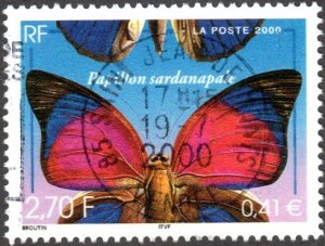 France 2776 - Used - 2.70fr / 41c Agrias Butterfly (2000) (cv $0.55)