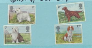 Great Britain Scott #851 To 854, British Dogs Issue From 1979, Collectible Po...